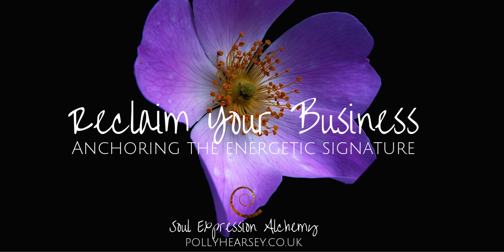 Reclaim your Business anchoring the energetic signature by Polly Hearsey