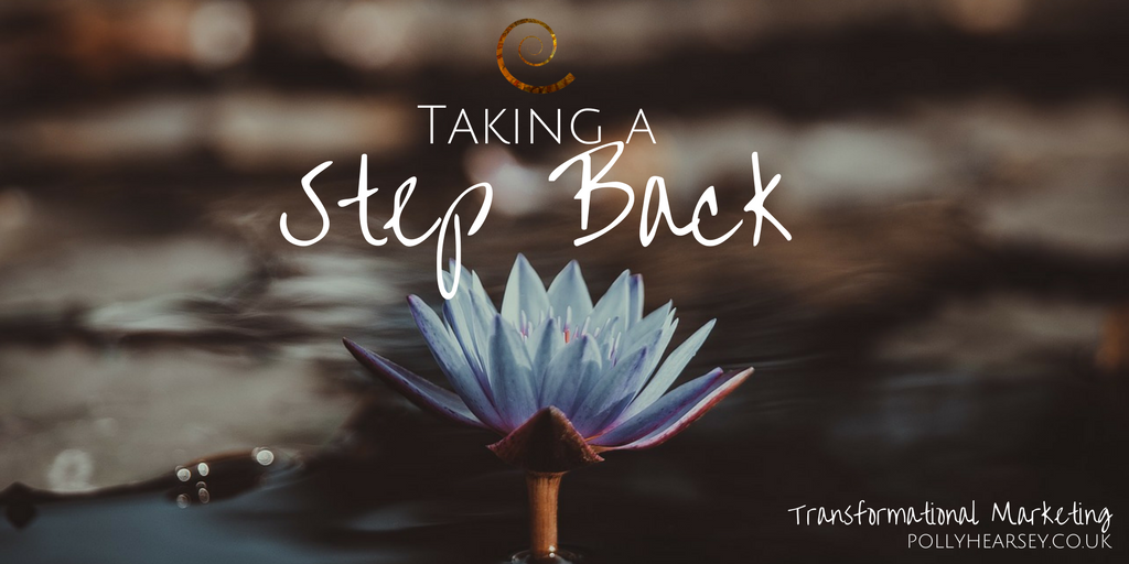 Taking a Step Back
